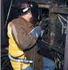 Personal Air Cooling used by welder