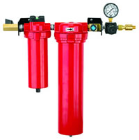 Compressed Air Filters for removal of dirt, water and oil